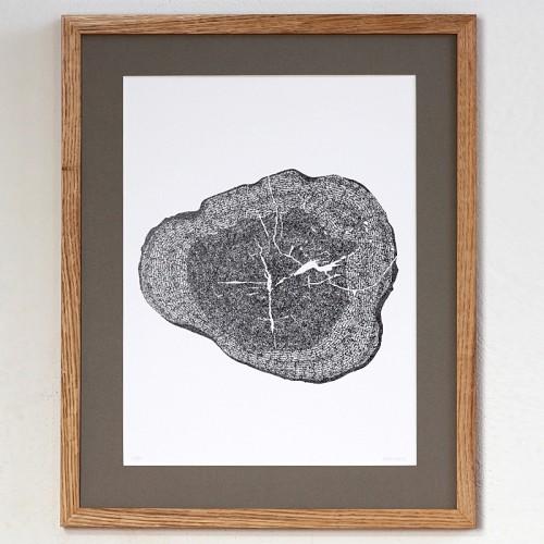 "Kalligrafie - ""Krumme Bäume ..."" – limitierter Kunstdruck 30 x 40 cm"
