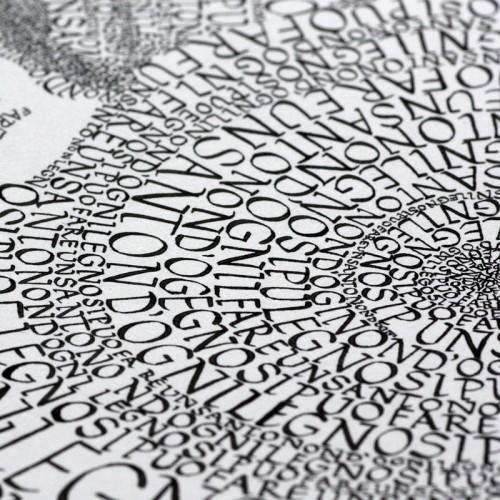 """Kalligrafie - """"Non d`ogni legno ..."""" – limitierter Kunstdruck 30 x 40 cm"""
